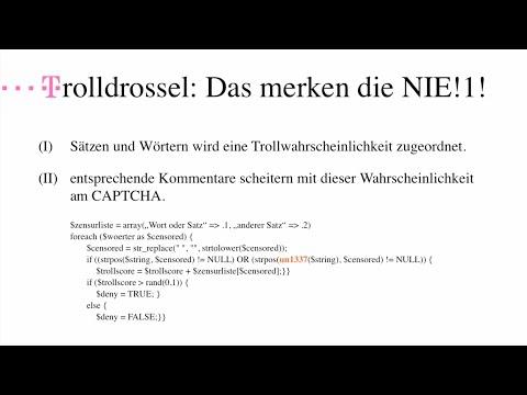 Die Trolldrossel [re:Fefe: Erkenntnisse der empirischen Trollforschung] #rp13