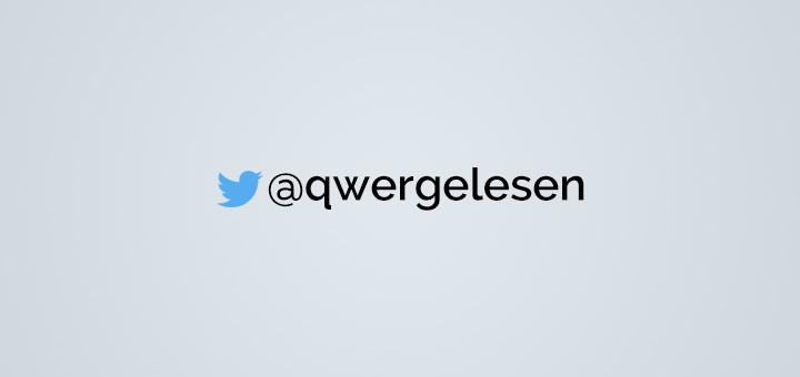 Twitter für qwergelesen
